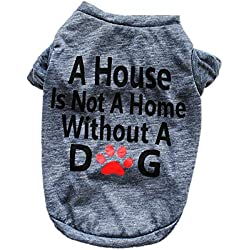 Clearance Pet Clothes Cinsanong Cotton Dog Shirt Small Dog Cat Vest Lover Gifts Summer Best T Shirt for Puppy