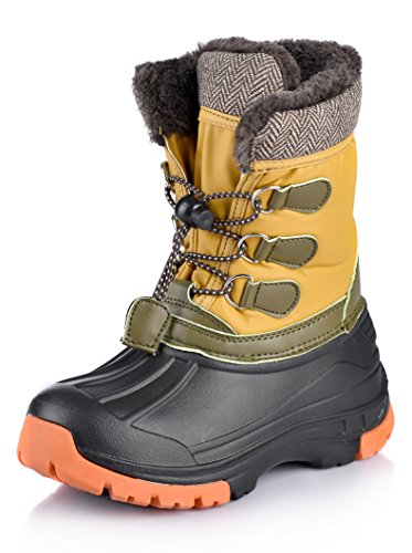 Price comparison product image Nova Mountain Little Kid's Winter Snow Boots,NF NFWBN01 Khaki 1