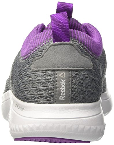 Reebok Astroride Run Fire, Chaussures de Running Compétition Femme Gris (Flint Gry/alloy/vcs Violet/aubergine/wht/stl)