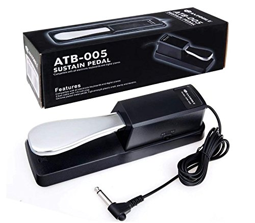 Antoble Sustain Pedal With Piano Style for Electronic Keyboards, Synthesizers & Digital Piano