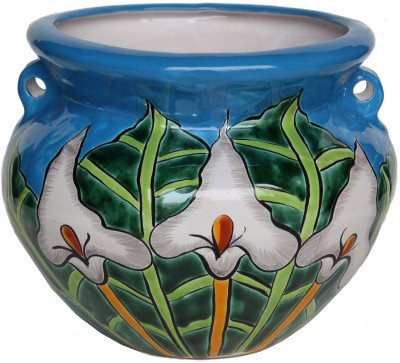 Pots Mexican Ceramic (Small Lily Talavera Ceramic Pot)