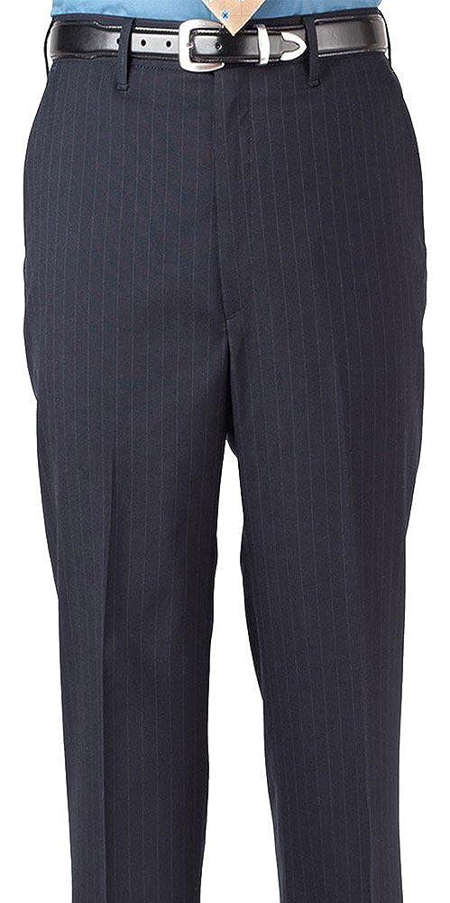 Edwards Garment Mens Flat Front Pinstripe Dress Pant/_NAVY/_48 UL