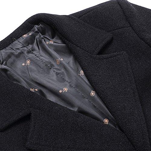 Giacca Giacca Herren Slim Autunno Vento Inverno Winterjacke Wintermantel Outwear Mens Jacket Coat WineRed Mantel A Winterjacke Corto Warme EAqwOxZPn