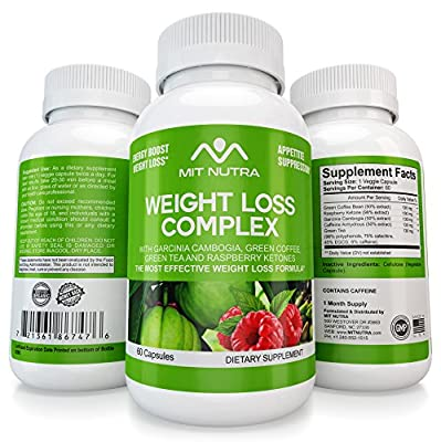 Premium Weight Loss Pills - All In One - Ultra Premium Garcinia Cambogia HCA - Raspberry Ketones - Green Tea - Green Coffee Extracts - Best Fat Burner, Appetite Suppressant Diet Pills by MIT NUTRA