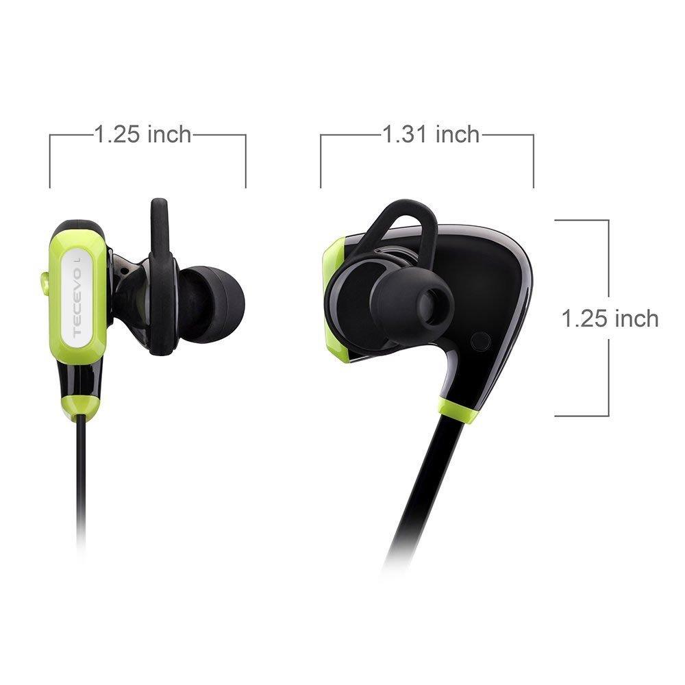 TECEVO deportes inalámbrica Bluetooth auriculares, Bluetooth 4.0, Sweatproof auriculares inalámbricos auriculares con micrófono integrado: Amazon.es: ...
