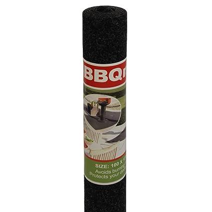 JVL barbacoa barbacoa protección, alfombra, color gris, 100 x 120 cm