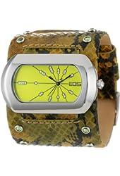 EOS New York Women's 76LGRN Snake Leather Strap Watch