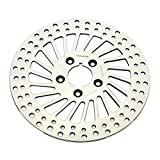 TARAZON Polished 11.5'' Super Spoke Front Brake Disc Rotor For Harley Sportster 883 1200 1984-1999