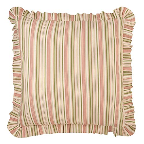 (C&F Home C and F Enterprises Garden Dream 26 x 26 in. Stripe Coordinate - Euro Sham)