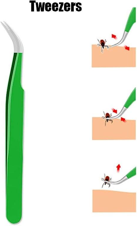 Tiques Pince Forceps Tiques Pinces Tiques en acier inoxydable