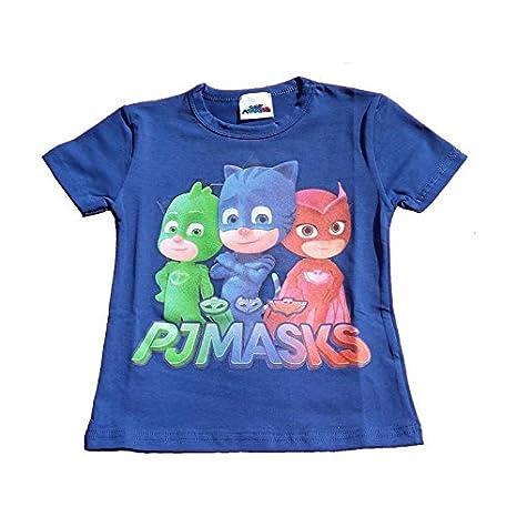 Pj Mask Maglietta Superpigiamini T Shirt Blu Bambino Bambina Stampa