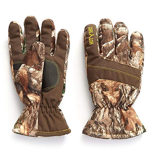 HOT SHOT Youth Boy's Camo Defender Glove - Realtree Edge Outdoor Hunting Camouflage Gear