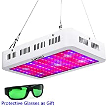 JUHANG 1000W Full Spectrum LED Grow Light for Indoor Plants Veg and Flower Garden Greenhouse Hydroponic Plant Grow Lights with Zener Protector(Including Grow Room Glasses)