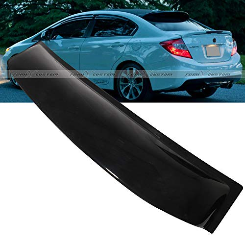 Remix Custom Roof Spoiler for 2012-2015 Honda Civic 4DR Sedan Rear Roof Window Visor Spoiler Wing 13 14 ()