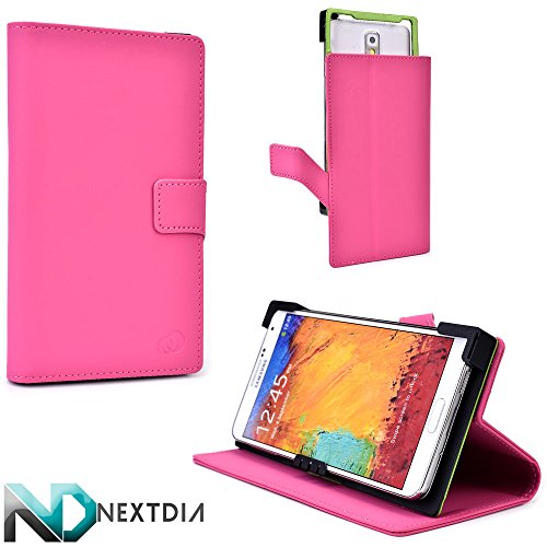 Universal Smartphone Case, Oppo Find 7 , Pink Machine with Kickstand Option + ND Cable Tie