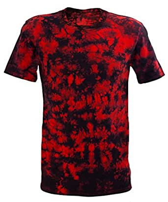 Desteñido Festival Red Scrunch batik T-Shirt, Rosso, 44/46