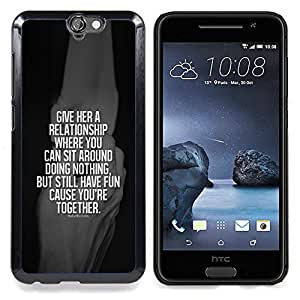 - relationship black together white quote - - Modelo de la piel protectora de la cubierta del caso FOR HTC ONE A9 RetroCandy