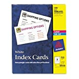 Avery® - Laser/Inkjet Unruled Index Cards, 3 x 5, White, 150/Box - Sold As 1 Box - Heavyweight card stock feeds easily from paper tray.