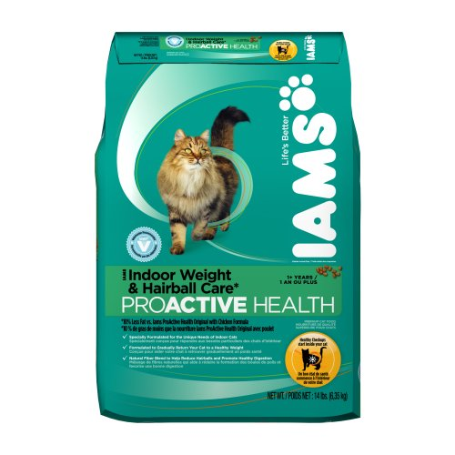 Iams Proactive Health Adult Indoor Weight And Hairball Care Chicken Recipe Dry Cat Food 14 Pounds