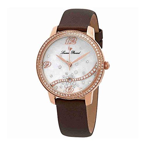 Lucien Piccard Women's LP-16520-RG-02S-BNSS Mirage Analog Display Quartz Brown Watch (Satin Strap Watch Mop)