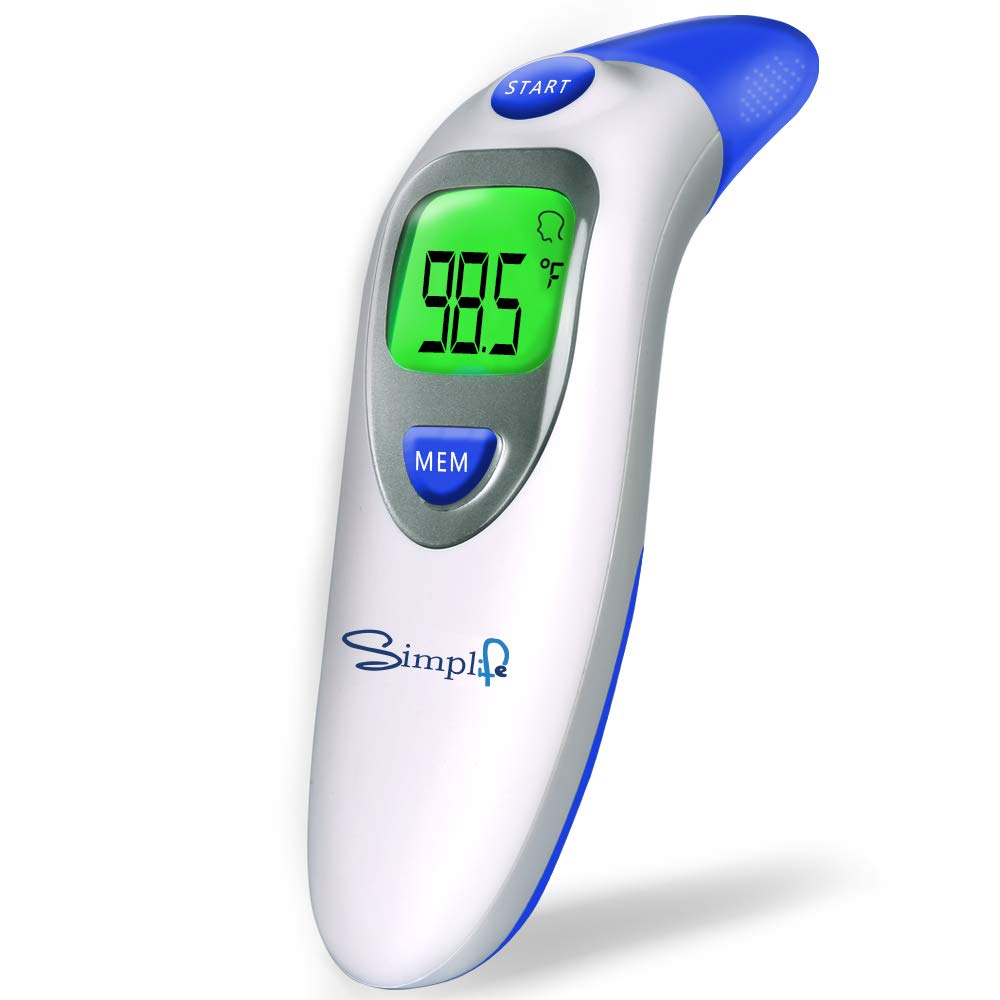 Baby Forehead Thermometer with Ear Function, Digital Medical Infrared Body Temporal Basal Thermometer for Fever, for Kids, Children, Adults, Infants, Toddlers by simplife
