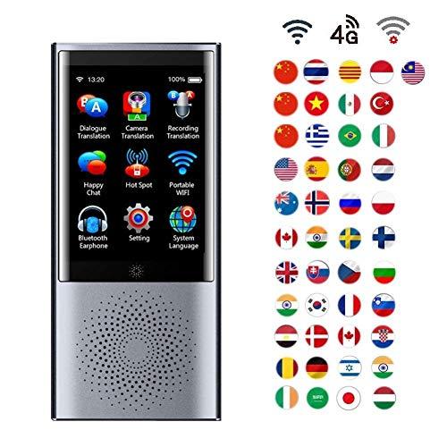 ZPWSNH Intelligent Language Speech Translation Equipment Portable Handheld Intelligent Real Voice Best 43 Language Precise Synchronization Translation Translator