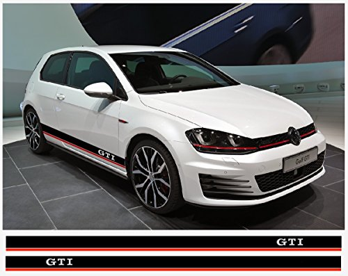 (VW GTI side decal Racing Stripes decal set (black - red))