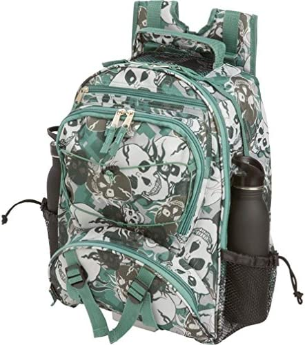 GREEN SKULL CAMO BACKPACK