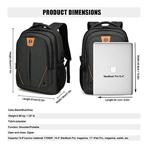 WindTook Laptop Backpack Business Travel 15.6inch Backpack with USB Charging Port, College School Computer Bag for Women & Men