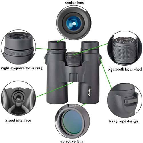 51BqyODr4aL - Gosky 10x42 Binoculars for Adults, Compact HD Professional Binoculars for Bird Watching Travel Stargazing Hunting Concerts Sports-BAK4 Prism FMC Lens-With Phone Mount Strap Carrying Bag