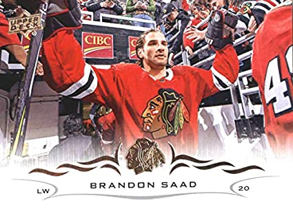 534cb53c483 2018-19 Upper Deck  38 Brandon Saad Chicago Blackhawks NHL Hockey Trading  Card