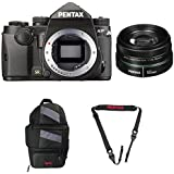 Pentax KP DSLR Camera (Black) with a Pentax smc DA 50mm f/1.8 Lens 22177 + Pentax 85231 Sling Bag 2 & Pentax 85232 Padded DSLR Strap