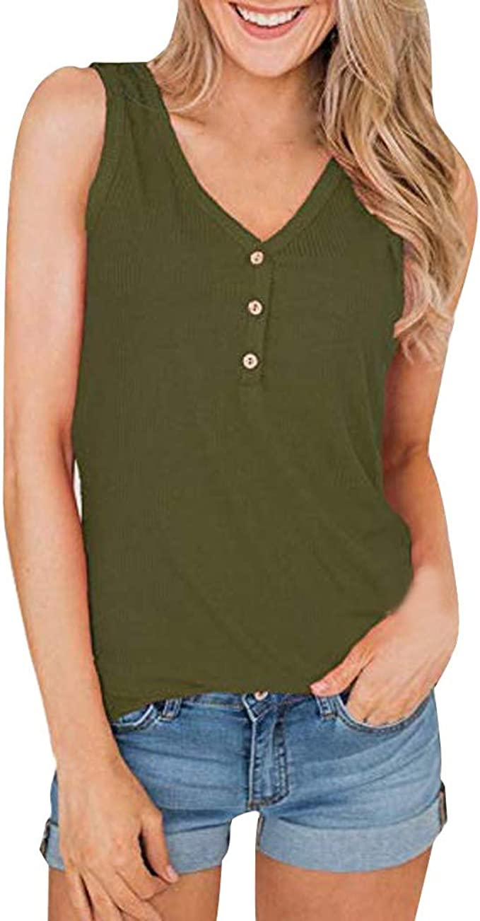 Womens Ladies Muscle Vest V Neck Front V Back Plain Casual Tank T Shirt Top