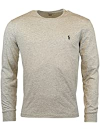 Mens Long Sleeve Crewneck Logo T-Shirt - XL - Lawrence Grey