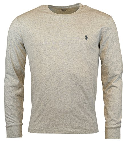 Polo Ralph Lauren Men Long Sleeve Pony Logo T-Shirt (X-Large, Lawrence Grey Heather) (Thermal Ralph Shirt Lauren)