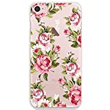 CrazyLemon iPhone 7 Plus / iPhone 8 Plus Case Ultra Slim Transparent Premium Clear Flexible Soft TPU Gel Creative Pattern Printing Durable Material Silicone Skin Protective Case Cover for iPhone 7 Plus / iPhone 8 Plus 5.5 inch - Small Rose Flower