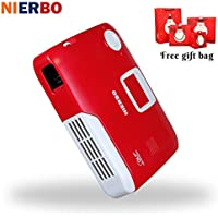 NIERBO Portable Projector Full 3D 4K Projector Christmas Gift Wireless School Android Wifi Office Education 15000mah Battery