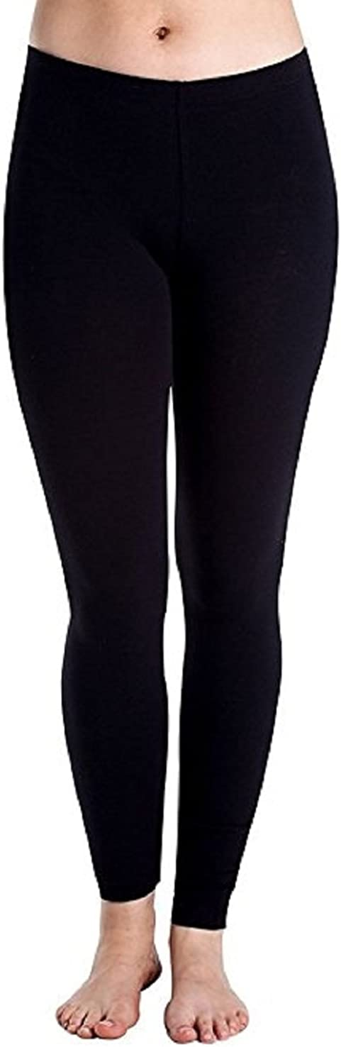 Cheryl Creations Women's Cotton Lycra Comfortable & Stretch Day/Night Jersey Leggings Made in USA