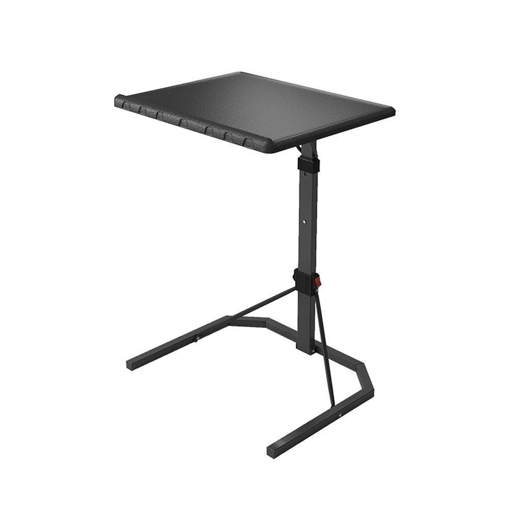 XUEXUE Desk, Laptop Lazy Table Bed Desk Lift Small Table Simple Folding Table Removable Stopper Ledge Computer Work Station Student Dorm Home Office,51x43x76106cm