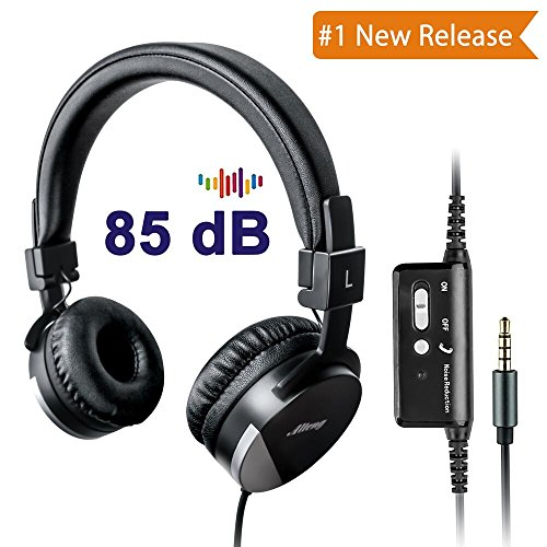 - Active Noise Cancelling Headphones for Kids,Alteng Child Travel Foldable Stereo Headset W/Mic and Remote,Tangle-Free 3.5mm Jack, Soft and Smooth Ear Cup(Black)