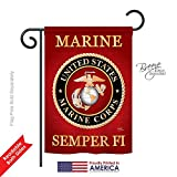 Breeze Decor G158057 Marine Corps Americana Military Impressions Decorative Vertical Garden Flag 13″ x 18.5″ Printed In USA Multi-Color Review
