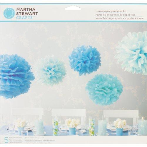 Martha Stewart Crafts Pom Poms, Blue