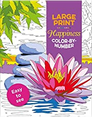 Large Print Happiness Color-by-Number