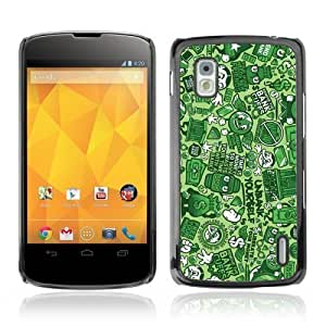 Designer Depo Hard Protection Case for LG Nexus 4 E960 / Graffiti Pattern by ruishername