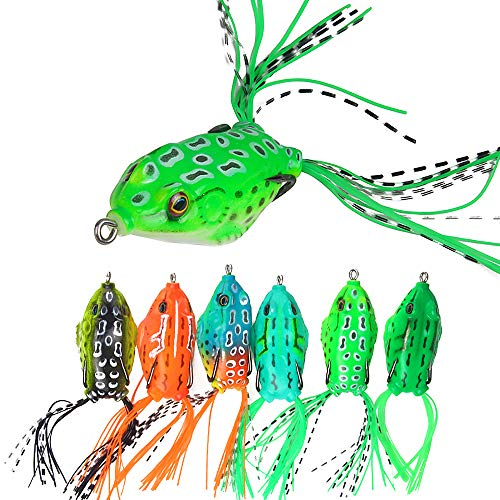 L-trap Floating Rat (Sunnysport Fishing Lures, Crankbait Kit Mixed, Carp Pike Whopper Plopper Floating Rotating Tail Topwater- Minnow Spinner Blade Baits Jigging Swimbait for Trout Salmon Bass CRA(5/8/10/6/6 pcs) (6pc#1))