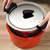 Kuhn Rikon Hotpan Braiser 4.5 Quart, Orange