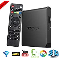 Aoxun TV Box Android 6.0 Intelligent set-top box S905X Quad-core T95X 2G + 16GB with wifi smart set-top boxes 64 Bits and True 4K Playing HDMI DLNA Smart TV Case