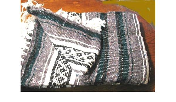 Amazon.com: Mexcian Blanket Authentic Falsa Yoga Blanket ...