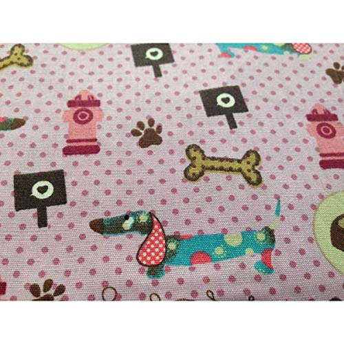 Ein Mouchoir Bunt Femme Kinder Tiere Hund Taille Dackel Rosa Boutique Unique Tatze Knochen Multicolore Taschentuch TFAqH5ITnx