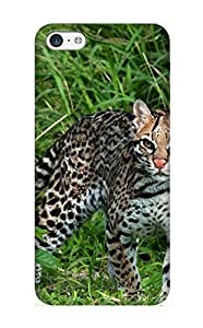 Animal Ocelot Case Compatible With Iphone 5c/ Hot Protection Case(best Gift Choice For Lovers)